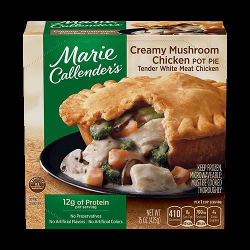 Creamy Mushroom Chicken Pot Pie Marie Callender S